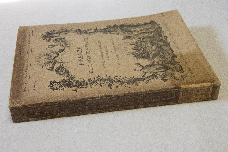 Il dorso restaurato con carta giapponese ritoccata con acquerello