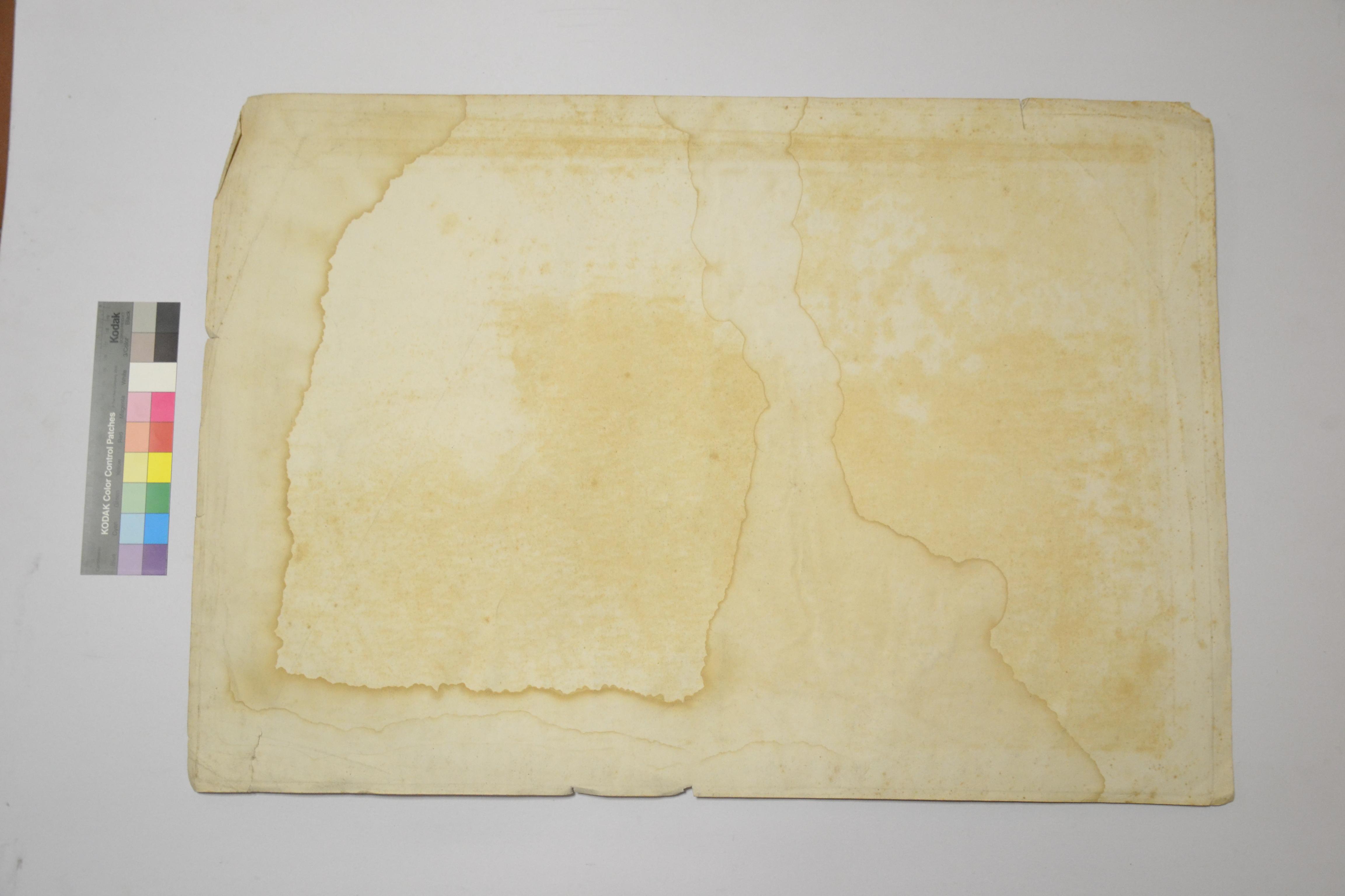 Carta prima del restauro (verso)