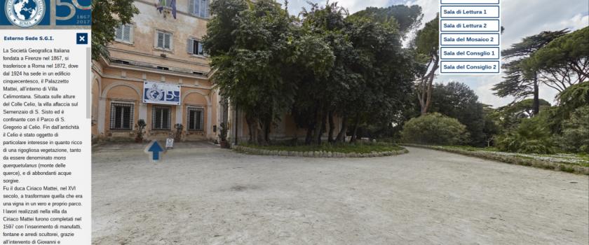 """Tour virtuale della mostra """"Geografie di una storia"""" e della Sede della Società Geografica Italiana"""