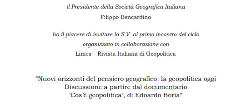 Link diretta streaming Ciclo Geopolitica