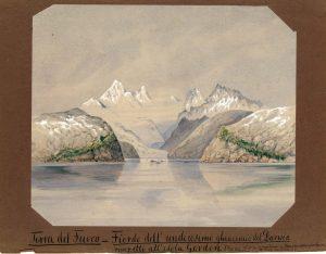 Domenico Lovisato, Terra del Fuoco - Fiordo dell_undicesimo ghiacciaio del Darwin (1881)