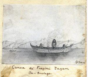 Giacomo Bove, Canoa dei Fuegini Jagan dai Diari di viaggio 188