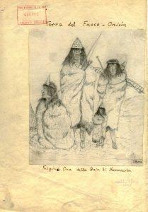 Giacomo Bove, Fuegini Ona della Baia di Hammacola (Terra del Fuoco) dai Diari di viaggio 1884