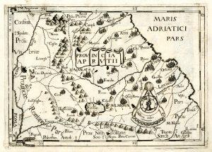 Giovanni Battista da Cassine, Provincia Aprutii, carta geografica tratta da Chorographica descriptio Provinciarum, et Conventuum
