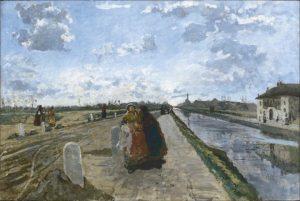 Il Naviglio fuori Milano (Naviglio di San Cristoforo), Emilio Gola, 1895, Gallerie di Piazza Scala