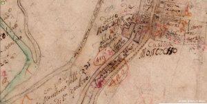 Cascina Moncucco, Catasto Teresiano, 1722, Archivi di Stato di Milano (fonte: facebook.com/storiadellabarona/)