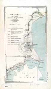 Traccia del viaggio attraverso la Patagonia australe 1882