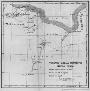 Itinerario di viaggio della Missione Sanfilippo