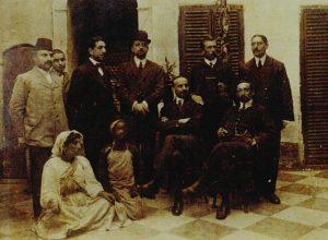 Componenti la Missione Sanfilippo-Sforza (da sinistra seduti: Ignazio Sanfilippo, Ascanio Michele Sforza)