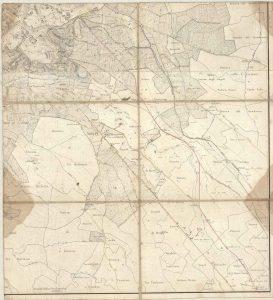 Filippo Trojani, Foglio 4 (Roma Sud-Est ) della Carta topografica del suburbano di Roma, Ufficio del Censo, 1839