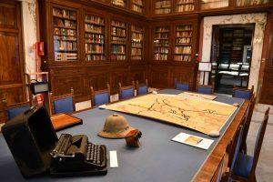 Allestimenti della mostra Giotto Dainelli: geografo, geologo, esploratore