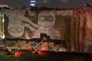 Cancellazione dei murales di Blu a Cuvrystraße, Kreuzberg (fonte Il Mitte online)