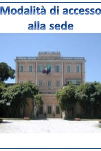 Modalità di accesso alla sede della SGI