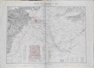 Service Géographique de l'Armée, Théâtre des opérations en Chine: environs de Pékin, [s.d.]. La carta indica i principali scenari delle operazioni di guerra contro i Boxers, tra il 1900 e il 1901