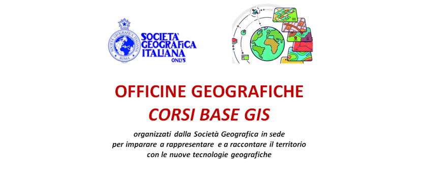 Officine geografiche. Rappresentare e raccontare il territorio – Corsi base GIS