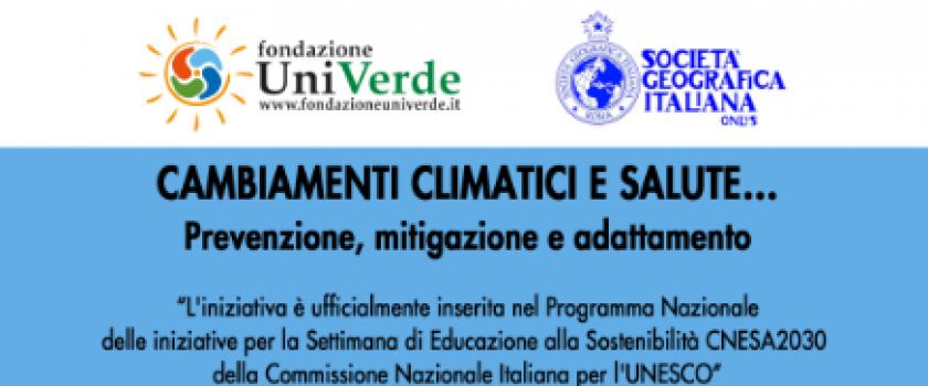 Società Geografica Italiana onlus e Fondazione Univerde per la campagna UNESCO UCNESA2030