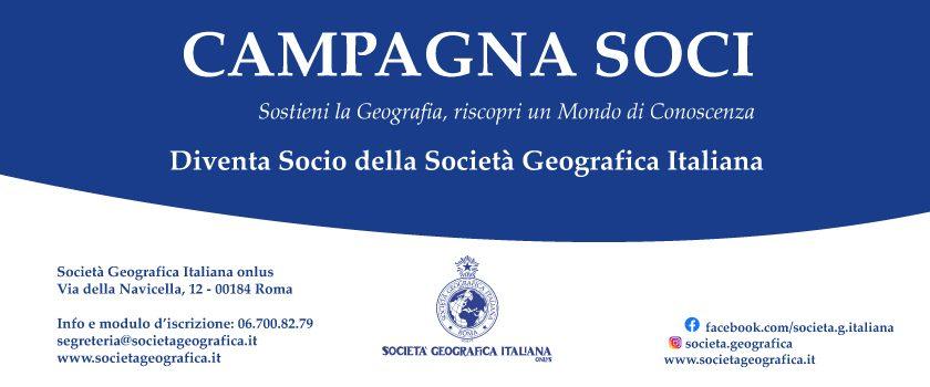 Campagna Soci della Società Geografica Italiana – 2021