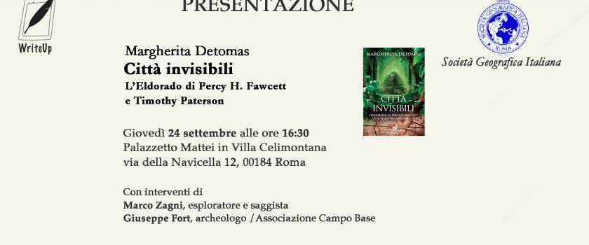 (Italiano) Presentazione del volume: Città invisibili – 24 settembre 2020 ore 16:30