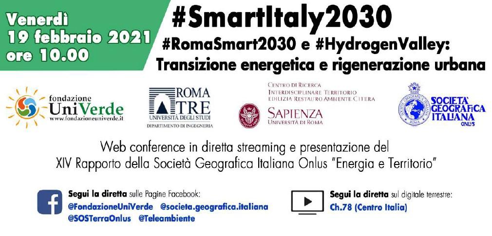 """19 Febbraio – WEB Conference """"Transizione Energetica e Rigenerazione Urbana"""" e XIV Rapporto SGI"""