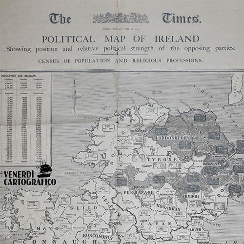Venerdì Cartografico – L'autonomia irlandese nel XX secolo
