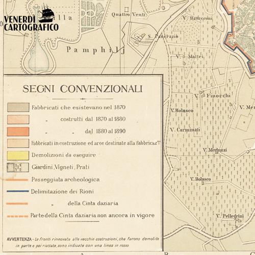 Venerdì Cartografico –  Il Piano Regolatore Generale di Roma in epoca post-unitaria