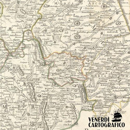"""Venerdì Cartografico –  Lo """"Stato"""" di Camerino all'interno dello Stato Pontificio"""