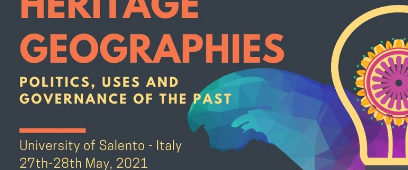 IGU Conference on heritage geographies – 27 e 28 maggio
