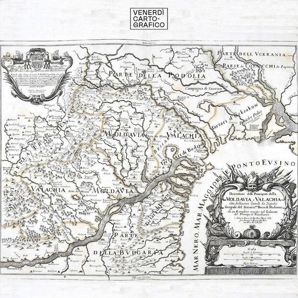 Venerdì Cartografico – Moldavia e Valachia – 1686
